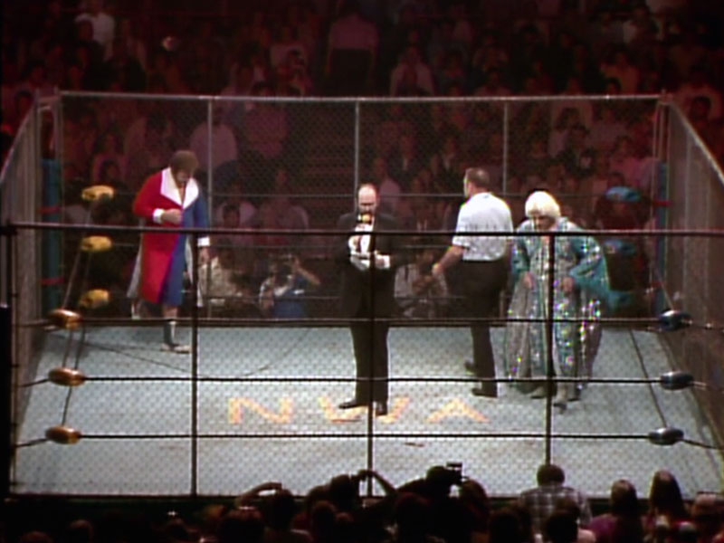 The main event of Starrcard '83: Ric Flair vs. Harley Race
