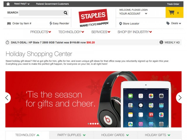 Staples Holiday 2013