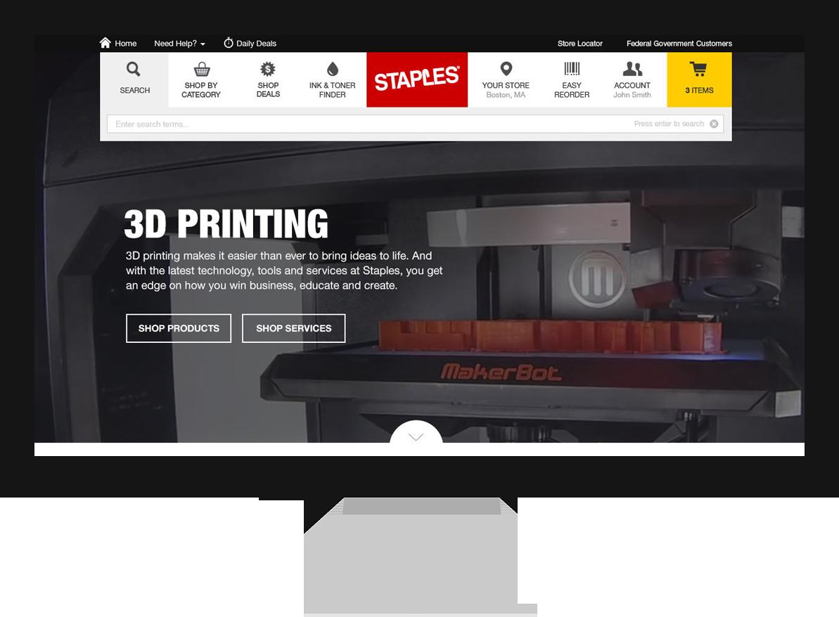 Staples 3D Printing