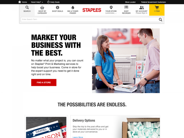 Staples | Print Marketing